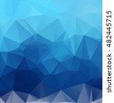 blue polygonal mosaic...   Shutterstock .eps vector #482445715