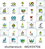 vector abstract business logo... | Shutterstock .eps vector #482454706