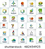 vector abstract business logo... | Shutterstock .eps vector #482454925