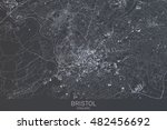 bristol map  satellite view ... | Shutterstock . vector #482456692