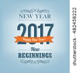 2017   calligraphic new year... | Shutterstock .eps vector #482458222