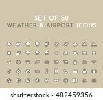set of 50 solid weather and... | Shutterstock .eps vector #482459356
