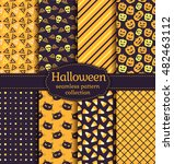happy halloween  set of... | Shutterstock .eps vector #482463112