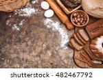 fresh bread still life bakery...   Shutterstock . vector #482467792