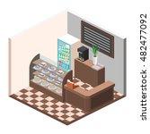 isometric interior of sweet... | Shutterstock .eps vector #482477092