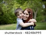 nice white boy with beautiful... | Shutterstock . vector #482486995
