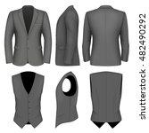 formal business suits jacket...   Shutterstock .eps vector #482490292