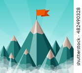 bitmap success or leadership... | Shutterstock . vector #482490328