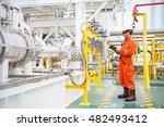 operator recording operation of ... | Shutterstock . vector #482493412