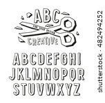 stock vector creative alphabet... | Shutterstock .eps vector #482494252