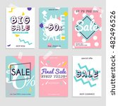 set media banners with discount ... | Shutterstock .eps vector #482496526