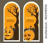 happy halloween cards. part 1....   Shutterstock .eps vector #482498596