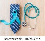 blue ribbon symbolic for... | Shutterstock . vector #482505745