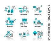 thin line flat icons pack for... | Shutterstock .eps vector #482512978