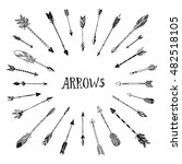decorative arrows collection.... | Shutterstock .eps vector #482518105