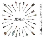 decorative arrows collection.... | Shutterstock .eps vector #482518132