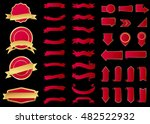 ribbon vector icon red color on ... | Shutterstock .eps vector #482522932