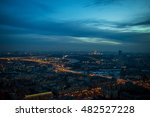 night view of the city from the ... | Shutterstock . vector #482527228