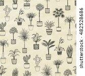 set of indoor plants. hand... | Shutterstock .eps vector #482528686
