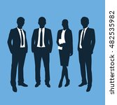 business people silhouettes.... | Shutterstock .eps vector #482535982