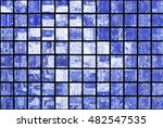 bright abstract mosaic blue... | Shutterstock . vector #482547535