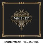 whiskey design for label and... | Shutterstock .eps vector #482550406