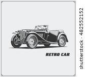 vintage car. retro car. classic ... | Shutterstock .eps vector #482552152