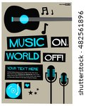 we love music   flat style... | Shutterstock .eps vector #482561896