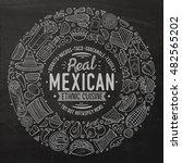 chalkboard vector hand drawn... | Shutterstock .eps vector #482565202