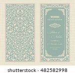 wedding invitation cards ... | Shutterstock .eps vector #482582998