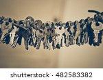 a big bunch of keys | Shutterstock . vector #482583382