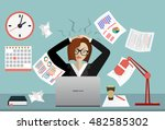 stress at work concept flat... | Shutterstock .eps vector #482585302