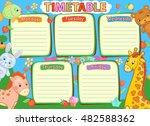 school timetable kids baby... | Shutterstock .eps vector #482588362