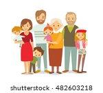 big happy multi generational... | Shutterstock .eps vector #482603218