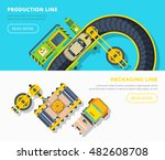 top view horizontal banners of... | Shutterstock .eps vector #482608708