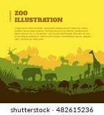 zoo world illustration... | Shutterstock .eps vector #482615236