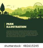 park illustration background ...   Shutterstock .eps vector #482615245