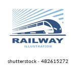 train logo illustration on... | Shutterstock .eps vector #482615272