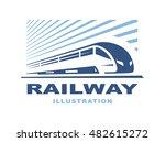 train logo illustration on... | Shutterstock .eps vector #482615272
