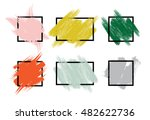 set of colorful hand painted... | Shutterstock .eps vector #482622736