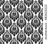 seamless lace pattern  flower...   Shutterstock .eps vector #482623222