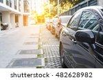line of car parking outdoor of... | Shutterstock . vector #482628982