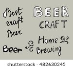 set of craft beer inscriptions. ... | Shutterstock .eps vector #482630245