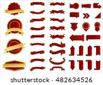ribbon vector icon red color on ... | Shutterstock .eps vector #482634526
