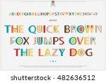 geometric style alphabet... | Shutterstock .eps vector #482636512