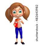3d rendered illustration of kid ... | Shutterstock . vector #482643982