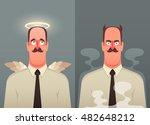 funny cartoon character. office ... | Shutterstock .eps vector #482648212