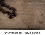 grunge rusty steel reel chain... | Shutterstock . vector #482653456