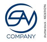 s a v company linked letter logo | Shutterstock .eps vector #482654296