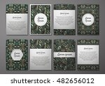 flyers template set with... | Shutterstock .eps vector #482656012